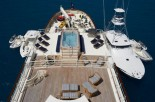 DOLCE FAR NIENTE - View From Top Deck Looking Aft