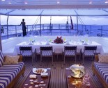 Sailing Yacht Felicita West - Alfresco Dinning Area